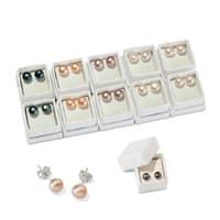 Perlenohrstecker 02 - Perlen 8 mm verschiedene Ausführungen - Silber 1 SanjaNatur