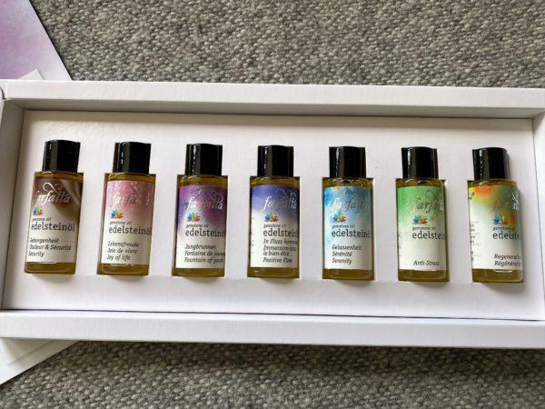 "Bio Edelstein-Öl Balance® ""Testset"" 7 x 10 ml - farfalla 3 SanjaNatur"