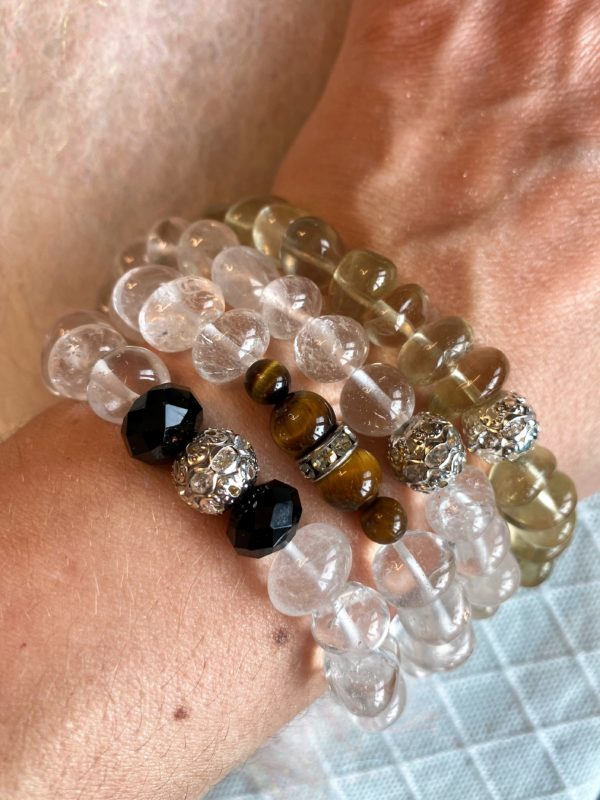 Edelsteinarmband 13 - Bergkristall mit Zirkonia Kugel Klarheit und Sicherheit 5 SanjaNatur