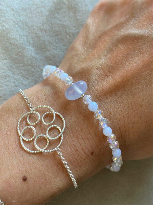 Edelsteinarmband Angel Aura mit blauem Chalzedon - Sicherheit und innere Ruhe 3 SanjaNatur