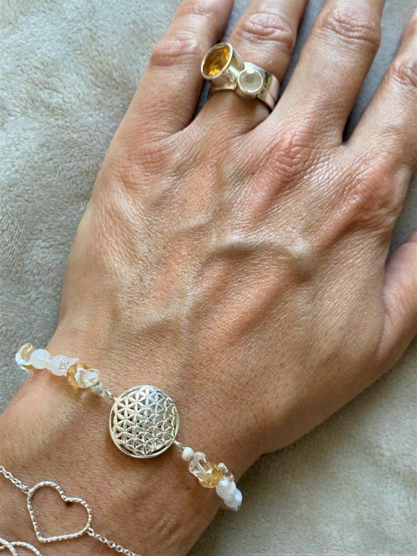 Edelsteinarmband Citrin mit Bergkristall und Labradorit - Ausgleich und Selbstbewusstsein 4 SanjaNatur