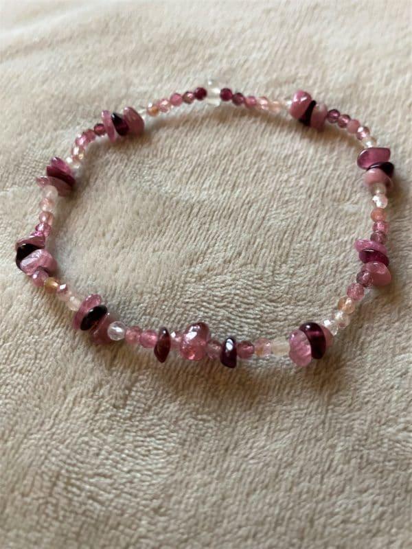 1 Edelsteinarmband rosa-roter Turmalin - Süden 2 SanjaNatur
