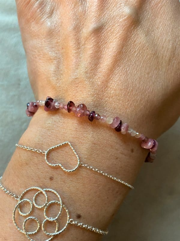 1 Edelsteinarmband rosa-roter Turmalin - Süden 3 SanjaNatur