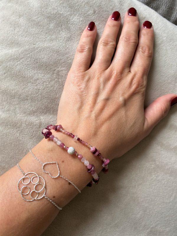 1 Edelsteinarmband rosa-roter Turmalin - Süden 5 SanjaNatur