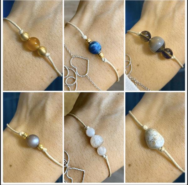Edelstein-Armband schlicht und elegant - verschiedene Ausführungen 1 SanjaNatur