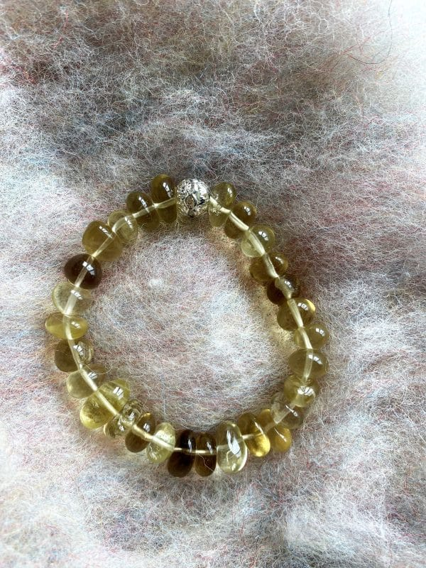 Set - Limonenquarz-Armband Zirkonia mit Citrin Ohringen facettiert - Silber 6 SanjaNatur