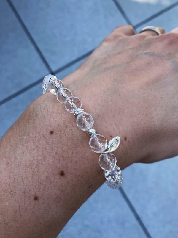 Licht-Armband Bergkristall facettiert - Silber - Klarheit und Sicherheit 2 SanjaNatur