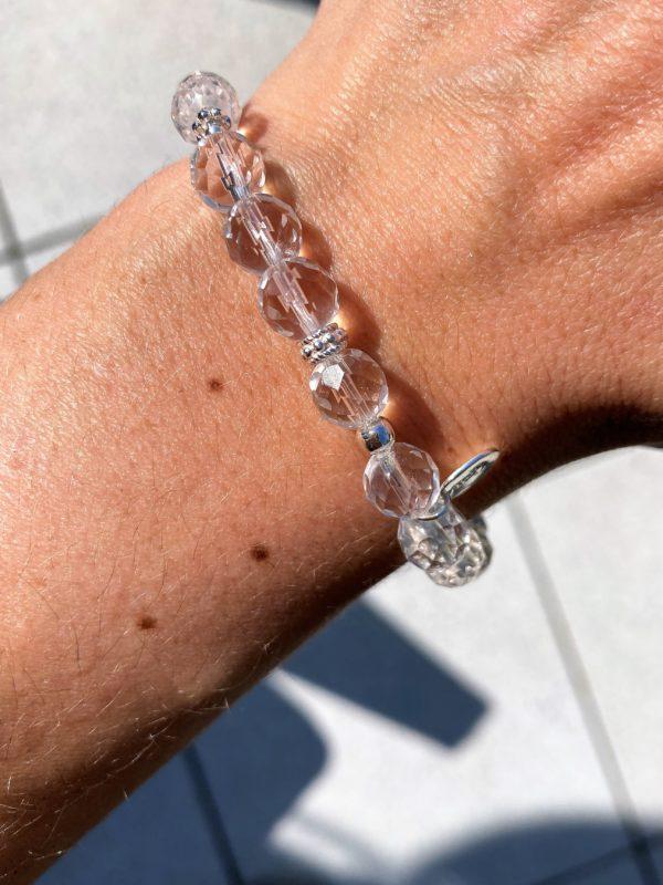 Licht-Armband Bergkristall facettiert - Silber - Klarheit und Sicherheit 3 SanjaNatur