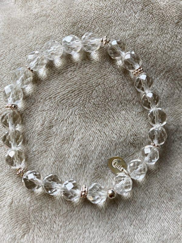 Licht-Armband Bergkristall facettiert - Silber - Klarheit und Sicherheit 1 SanjaNatur