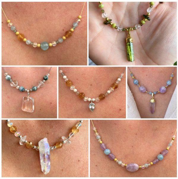Edelstein Halskette Individual-Auftrag 1 SanjaNatur