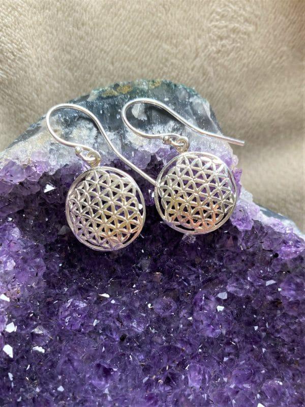 Ohrhänger Blume des Lebens, Silber - Harmonie 2 SanjaNatur