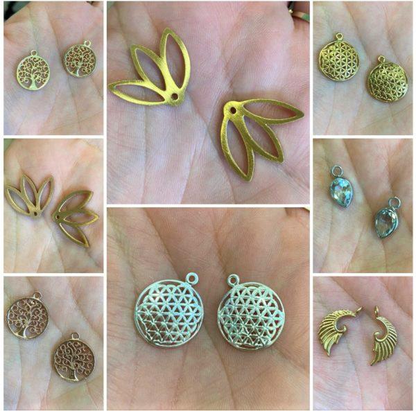 Ohrstecker Dekor - Silber, Gold, Roségold - verschiedene Ausführungen 1 SanjaNatur