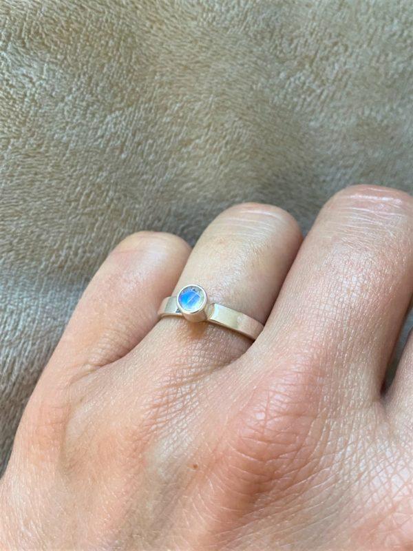 Ring Silber Labradorit (klein) weiß - Intuition & Ruhe 3 SanjaNatur