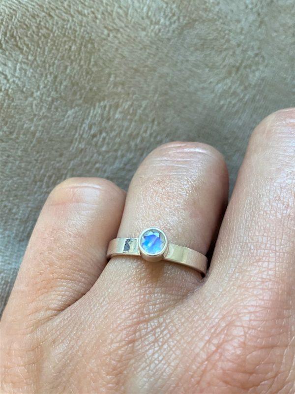 Ring Silber Labradorit (klein) weiß - Intuition & Ruhe 1 SanjaNatur