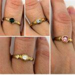 Edelstein Fingerring Gold - verschiedene Variationen 19 SanjaNatur