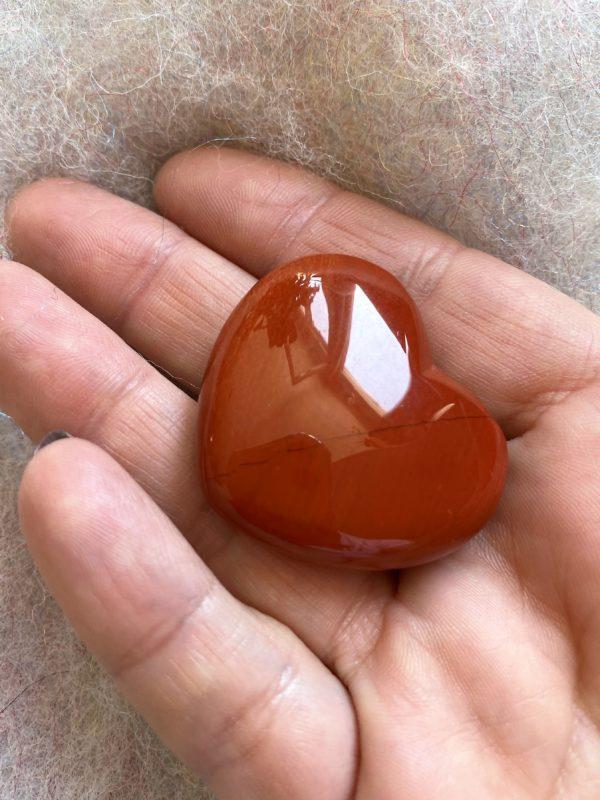 Handschmeichler - Taschenherz roter Jaspis 1 SanjaNatur