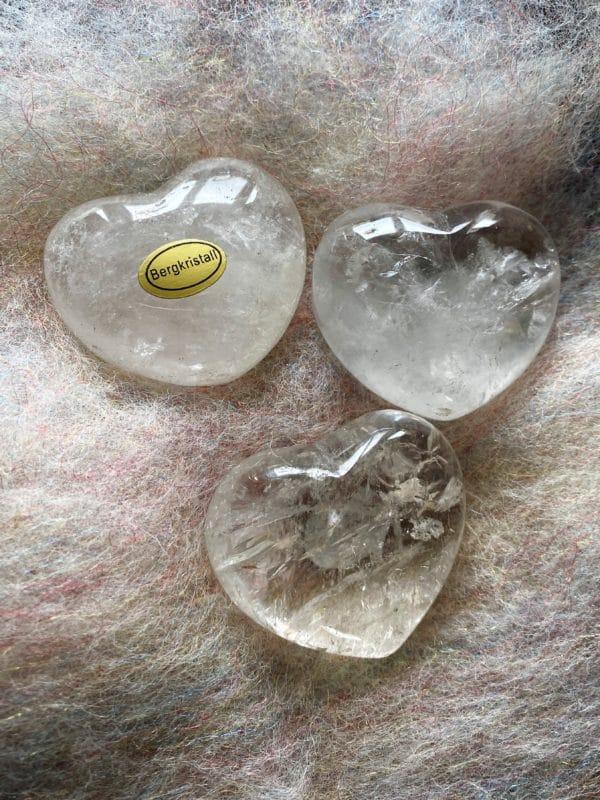 Handschmeichler - Taschenherz Bergkristall groß 3 SanjaNatur