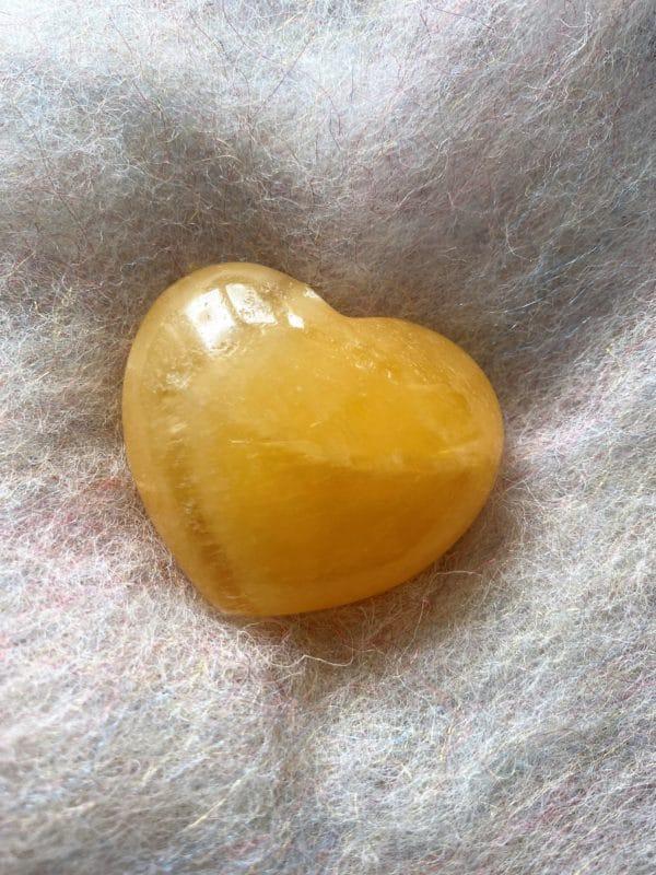 Set: Edelsteinarmband Citrin mit Taschenherz Orangencalzit - Selbstvertrauen und Selbstliebe 4 SanjaNatur