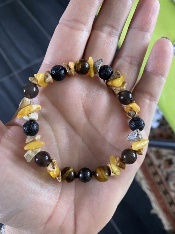 Herren Edelstein Armband oder Halskette Individual-Auftrag 1 SanjaNatur