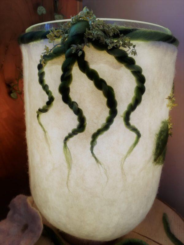 Filzlampe 022 mit echten Blüten - Eukalyptus Inspiration 4 SanjaNatur