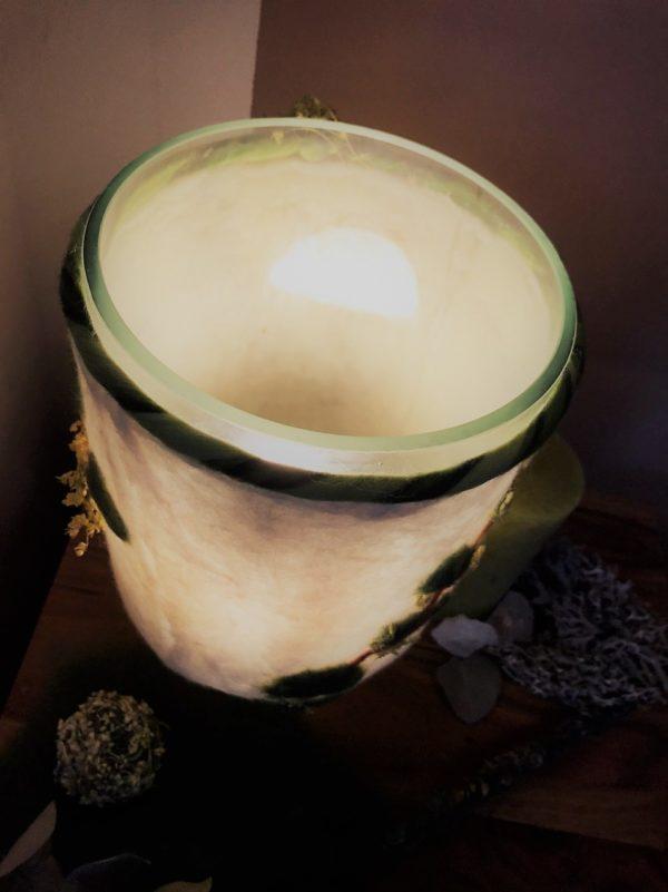 Filzlampe 022 mit echten Blüten - Eukalyptus Inspiration 5 SanjaNatur