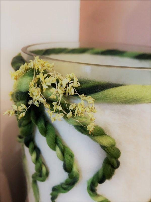 Filzlampe 022 mit echten Blüten - Eukalyptus Inspiration 8 SanjaNatur