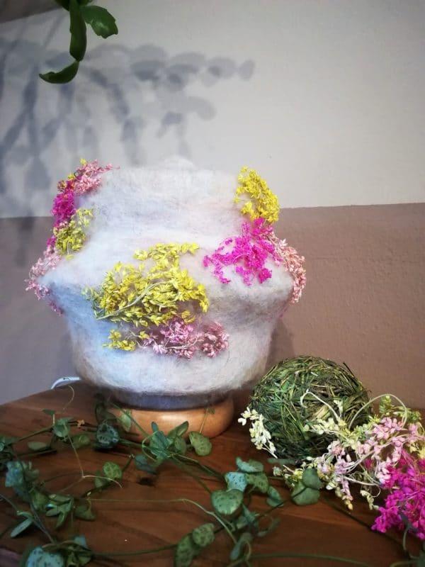 Filzlampe 023 mit echten Blüten - Kirschblüte im Frühling 6 SanjaNatur