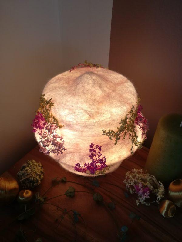 Filzlampe 023 mit echten Blüten - Kirschblüte im Frühling 4 SanjaNatur