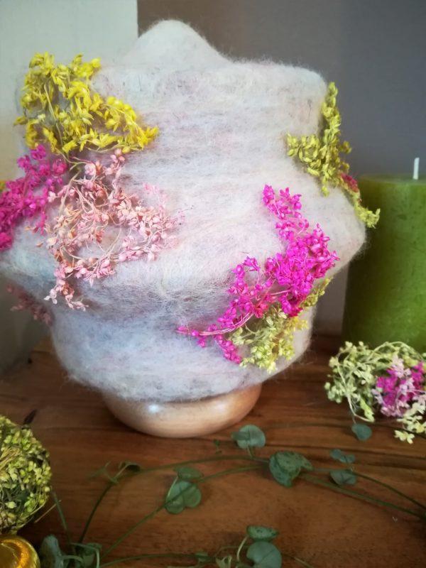 Filzlampe 023 mit echten Blüten - Kirschblüte im Frühling 7 SanjaNatur