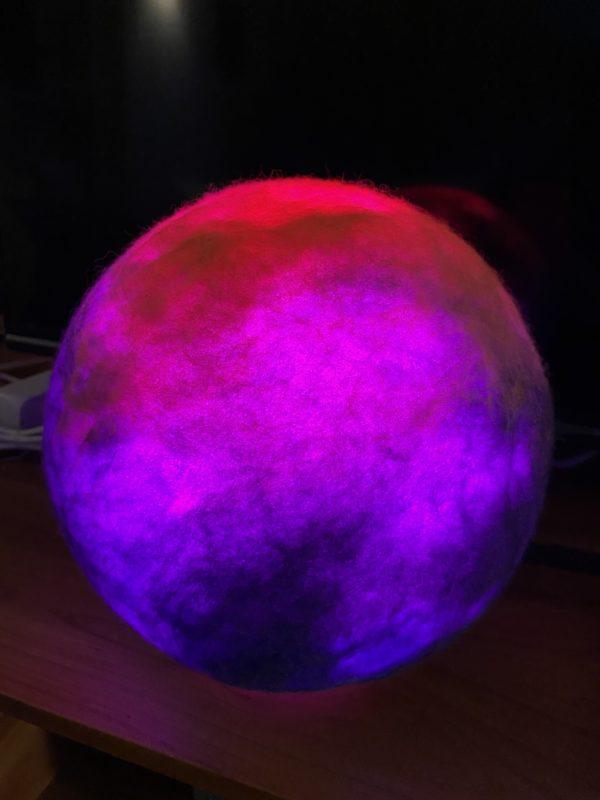 Filzlampe Ø27cm - Purple Rain 3 SanjaNatur