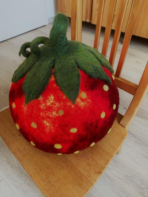 "Filzlampe Ø27cm 046 - Erdbeere ""Erdbert"" 6 SanjaNatur"