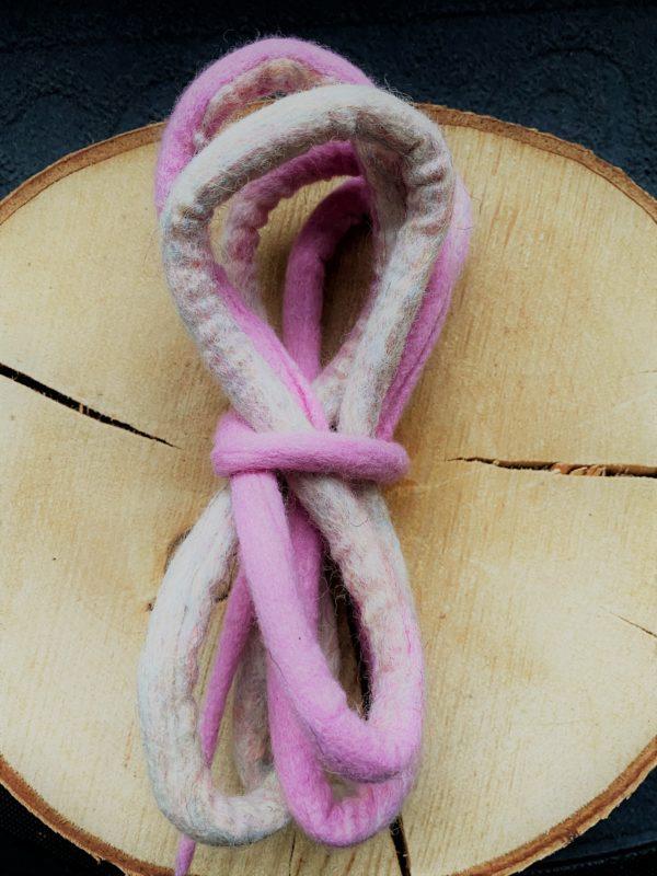 Filzschnüre Ø1cm 013 - rosa Zuckerwatte 3 SanjaNatur