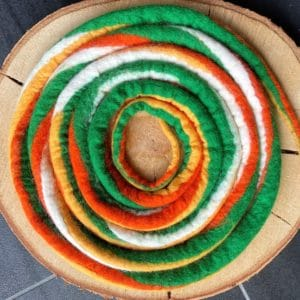 Set: Entdecker Filzschnüre mit passenden Schneckenband und Fossilien Replikat nach Wahl 6 SanjaNatur