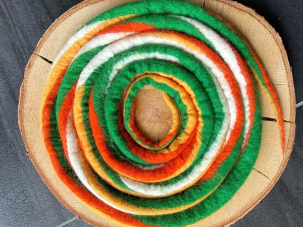 Set: Entdecker Filzschnüre mit passenden Schneckenband und Fossilien Replikat nach Wahl 4 SanjaNatur