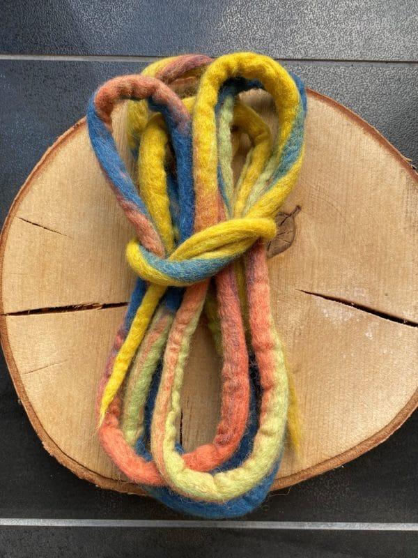 Filzschnüre Ø 1,5cm 008 - Regenbogen 2 SanjaNatur