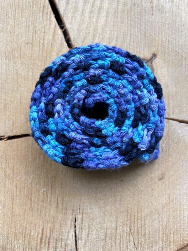 Schneckenband Märchenwald 13 - blau-lila-dunkelblau 1 SanjaNatur