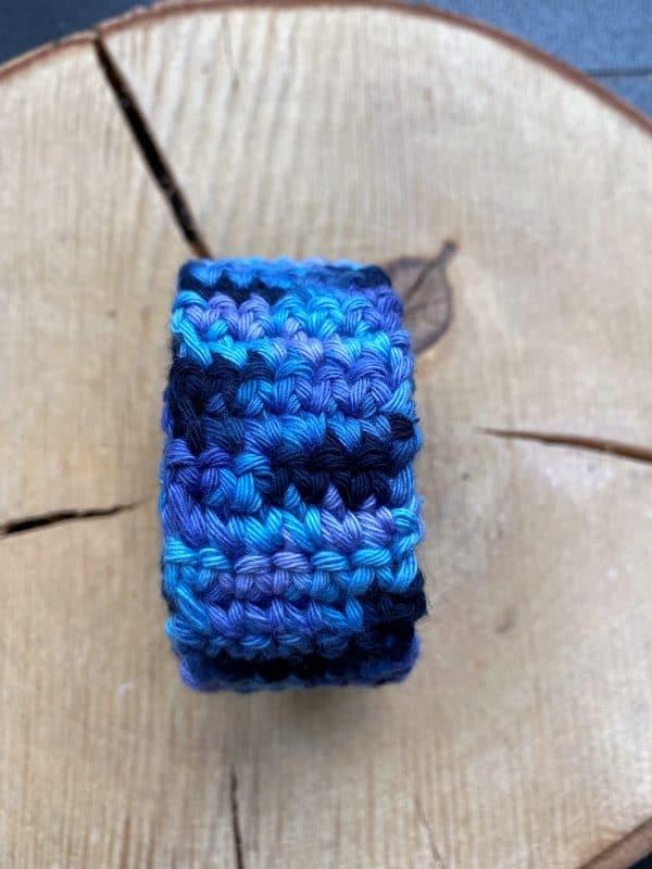Schneckenband Märchenwald 13 - blau-lila-dunkelblau 2 SanjaNatur