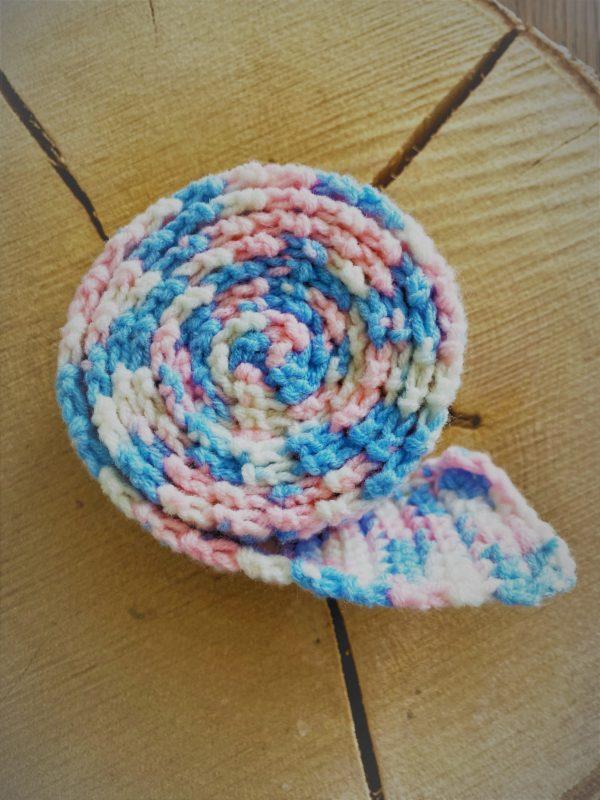 Schneckenband Märchenwald 20 - rosa-weiß-hellblau 1 SanjaNatur