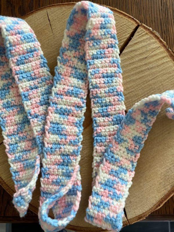 Schneckenband Märchenwald 20 - rosa-weiß-hellblau 3 SanjaNatur