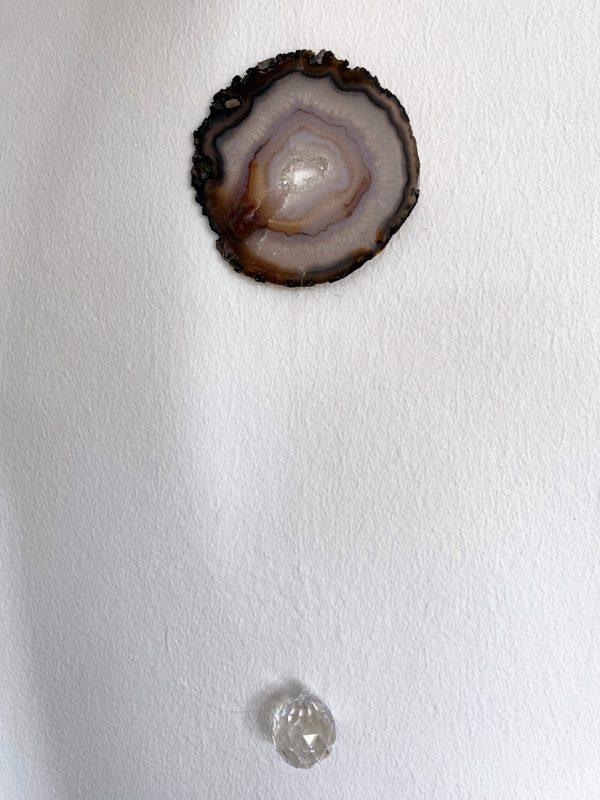 Achatscheibe Seelenfrieden 012 mit Prisma Regenbogenkristall 5 SanjaNatur