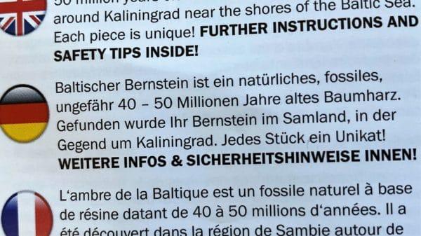Baby-Bernstein Kette bunt - Zahnungshilfe 4 SanjaNatur