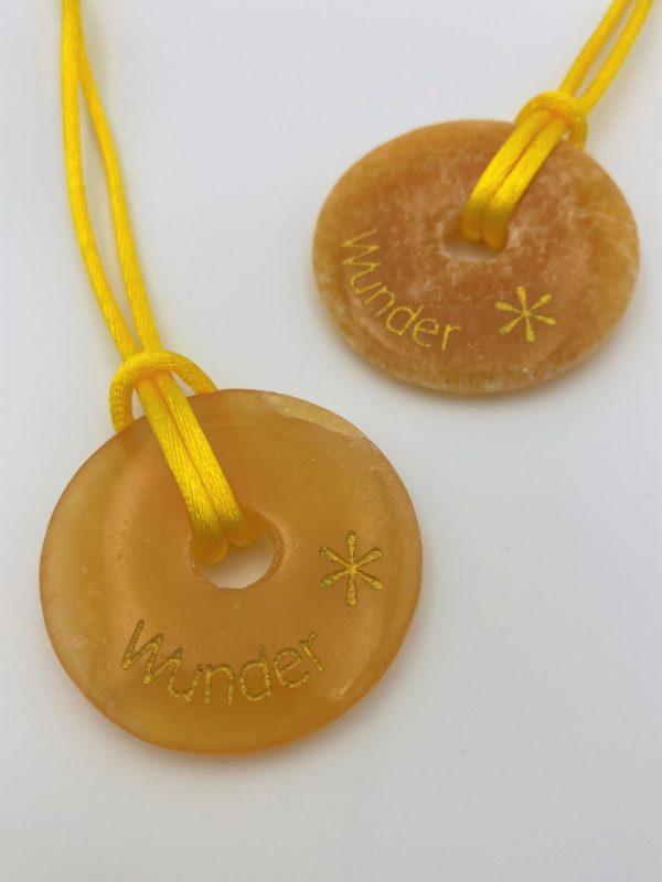 """Wunscherfüllungs-Donut """"Wunder"""", Orangencalcit - Selbstvertrauen 1 SanjaNatur"""