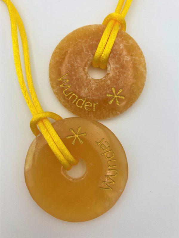 """Wunscherfüllungs-Donut """"Wunder"""", Orangencalcit - Selbstvertrauen 3 SanjaNatur"""