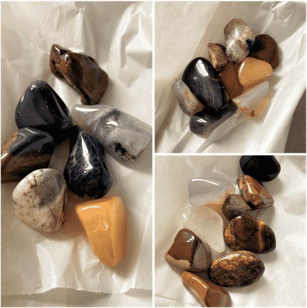 Trommelstein-Mischung in der Tüte, 25 - 30 mm (100 g) 1 SanjaNatur