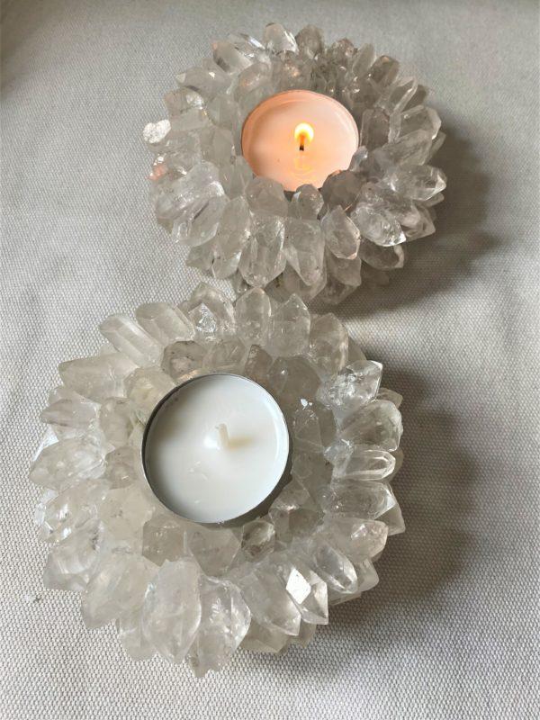 """Teelicht """"Sonne"""" Bergkristall - leuchtende Klarheit 4 SanjaNatur"""