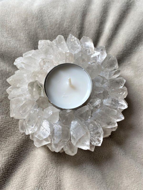 """Teelicht """"Sonne"""" Bergkristall - leuchtende Klarheit 2 SanjaNatur"""
