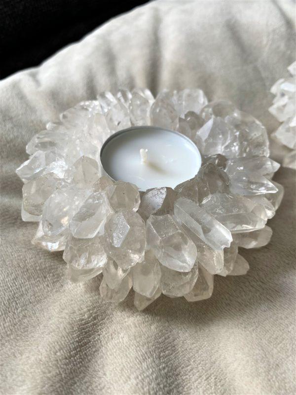 """Teelicht """"Sonne"""" Bergkristall - leuchtende Klarheit 3 SanjaNatur"""