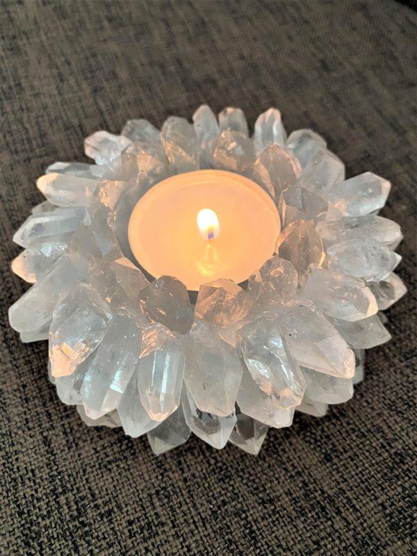 """Teelicht """"Sonne"""" Bergkristall - leuchtende Klarheit 6 SanjaNatur"""