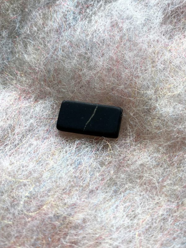 Schungit Handy Plättchen, 2 x 1 cm Strahlenschutz 2 SanjaNatur