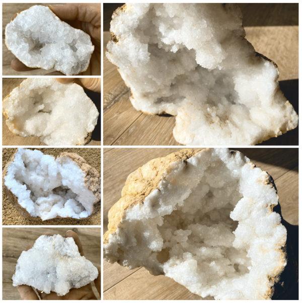 Quarzgeode - Schätze der Erde -Klarheit und Sicherheit 1 SanjaNatur
